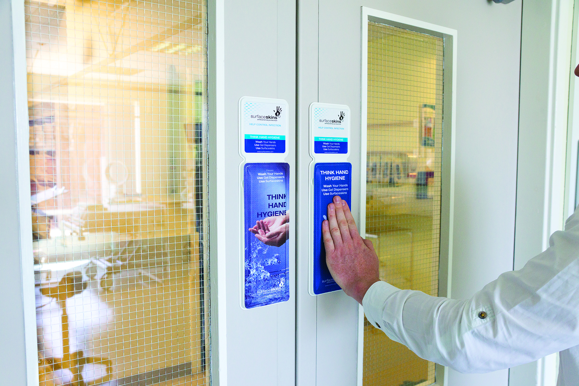 alcohol, door, pushpad, pullhandle, pull, push, protection, touch, touchprotection, touchpoint, infection, infectioncontrol, NHS, staff, patients, visitors, carehomes, hospitals, clinics, dentists, theatre, GPs, nurses, residents, office, work,